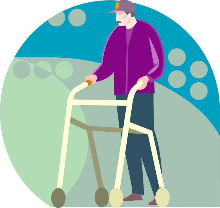 Walk vector walker. Or walking cane image