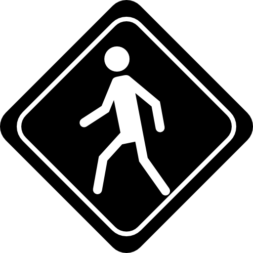 Walk vector walker. Walking traffic signal of
