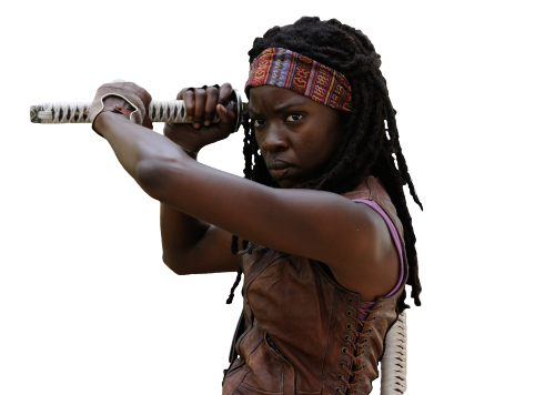 Walking dead png. Michonne from the official