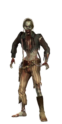 Walking dead zombies png. Image otro zombie red