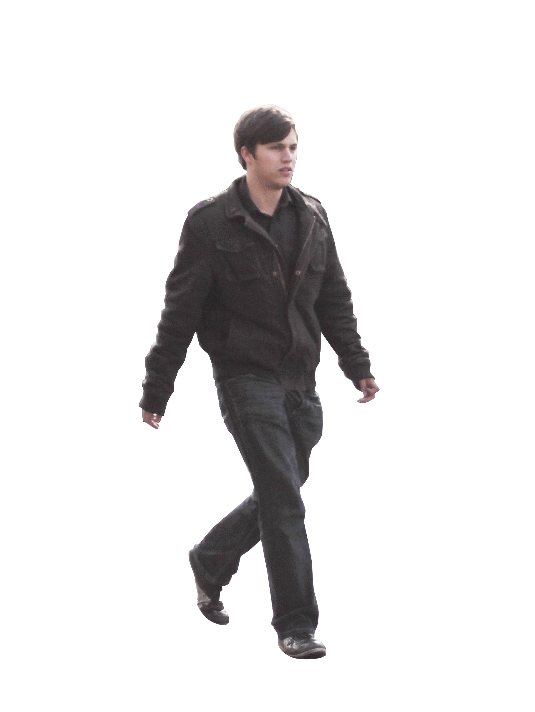 Transparent personality cutout. Walking people nta person