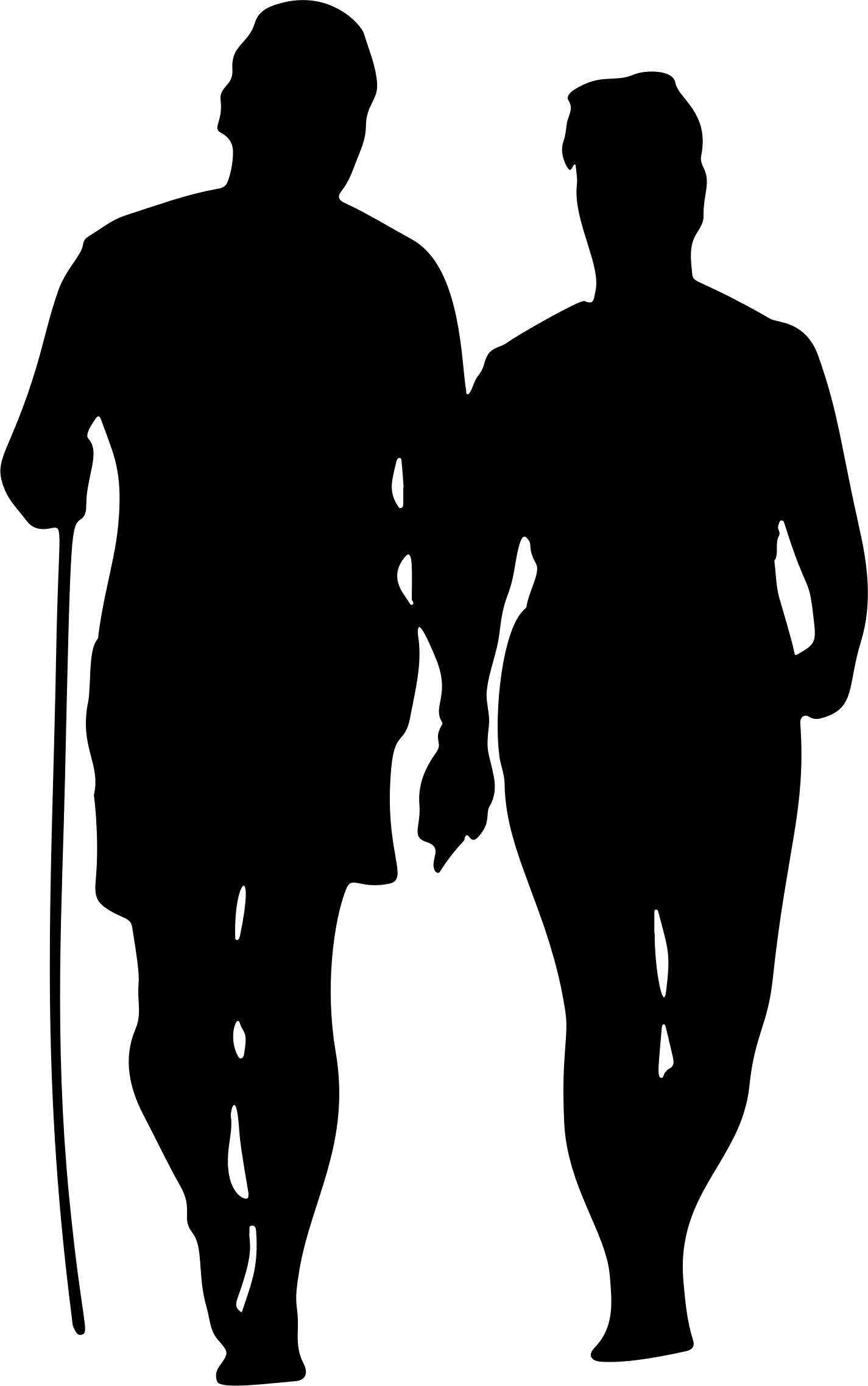 Walking people silhouette png. Couple on beach coury