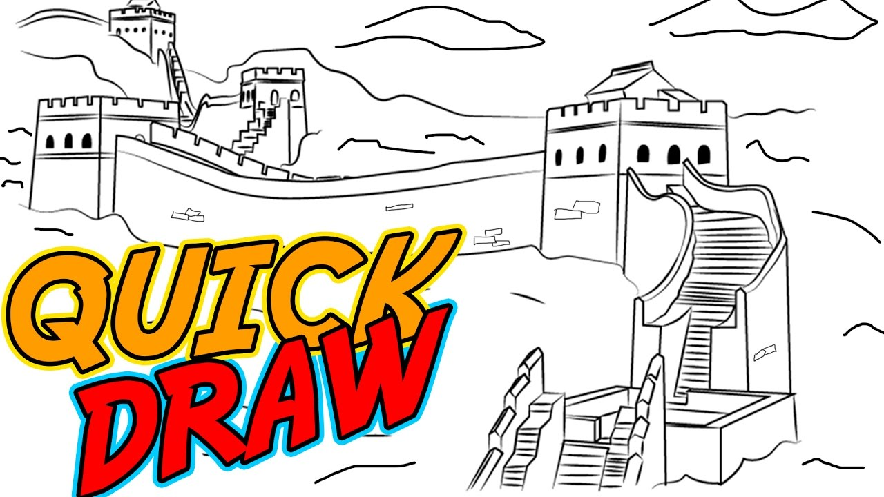 Wall clipart china sketch. Great of drawing at