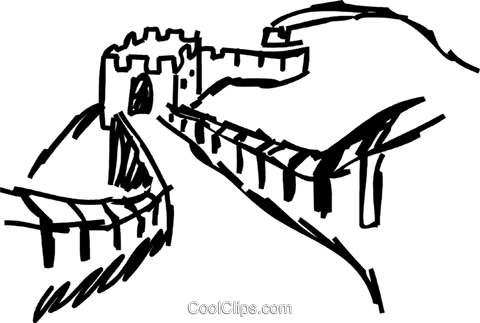 Wall clipart china sketch. Download hd great by