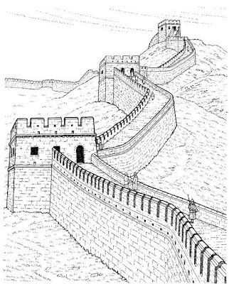 Wall clipart china sketch. Pencil sketches of the
