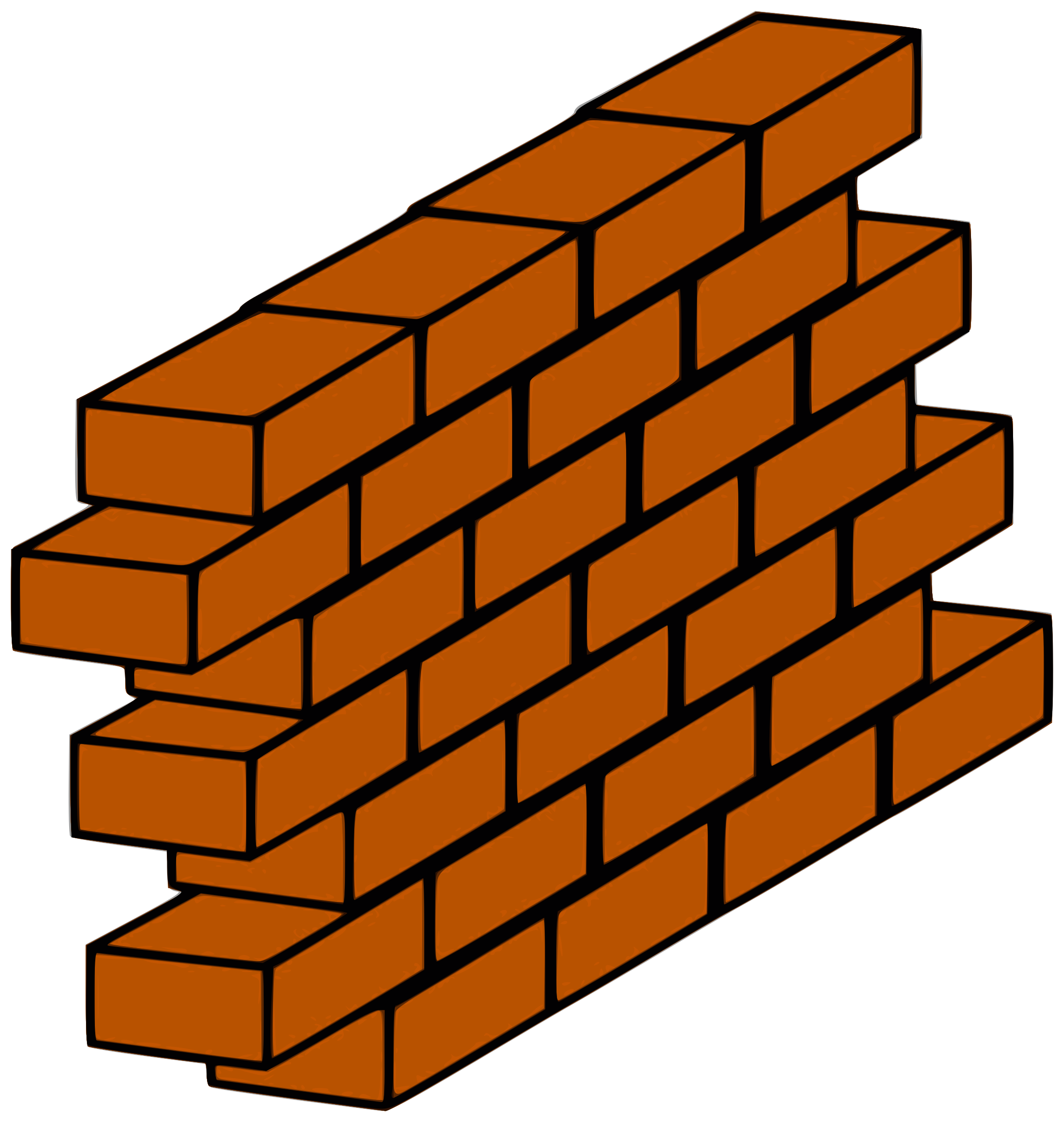 Wall clipart established. Red brick big image