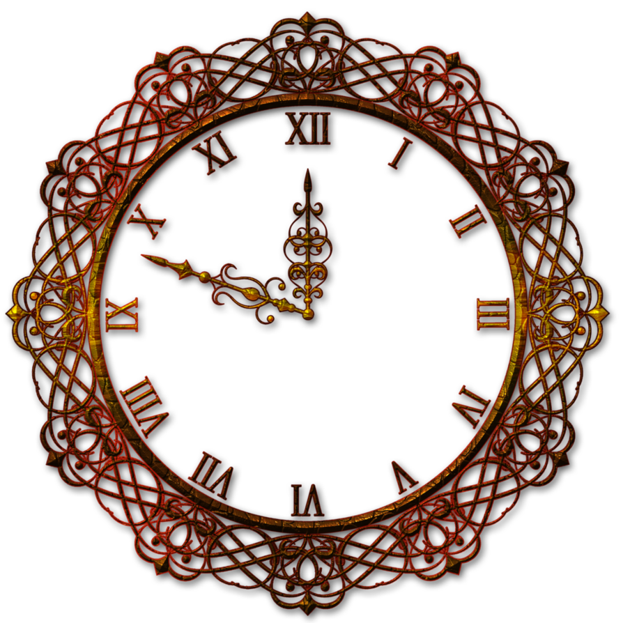Decorative clock by lyotta. Wall decor png png black and white