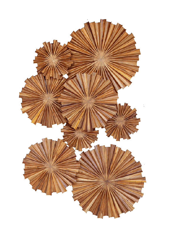 Teak circle palm hanging. Wall decor png clipart free library