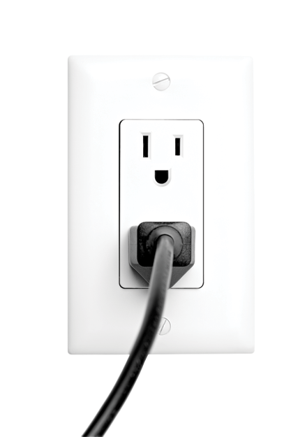 Wall outlet png. Electric socket transparent picture