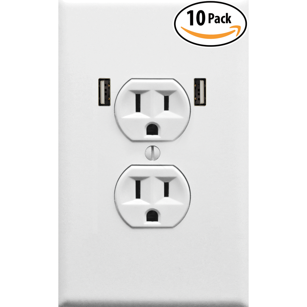 Wall outlet png. Fake electrical usb plate