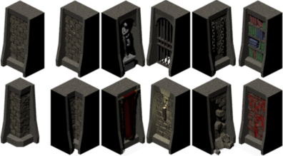 Dungeon wall png. Classic walls opengameart org