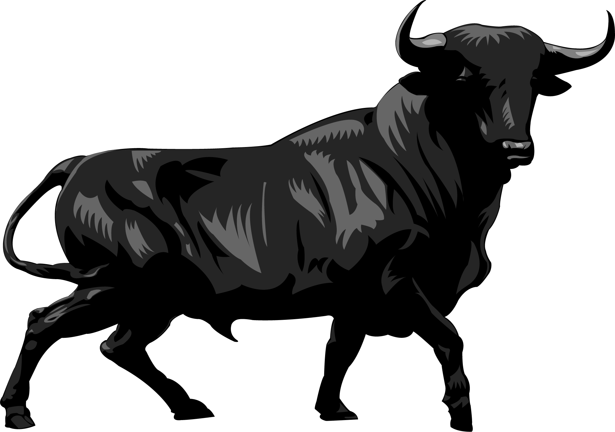 Charging bull wall street. Ox vector png library library
