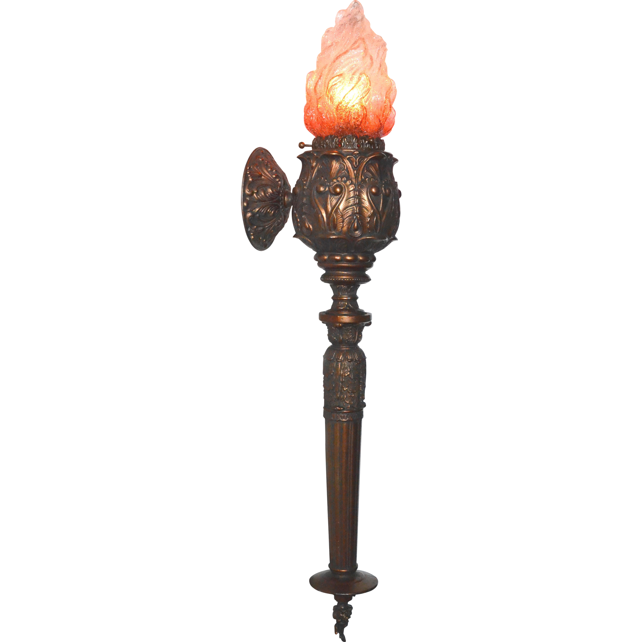 Wall torch png. Sconce style with cranberry