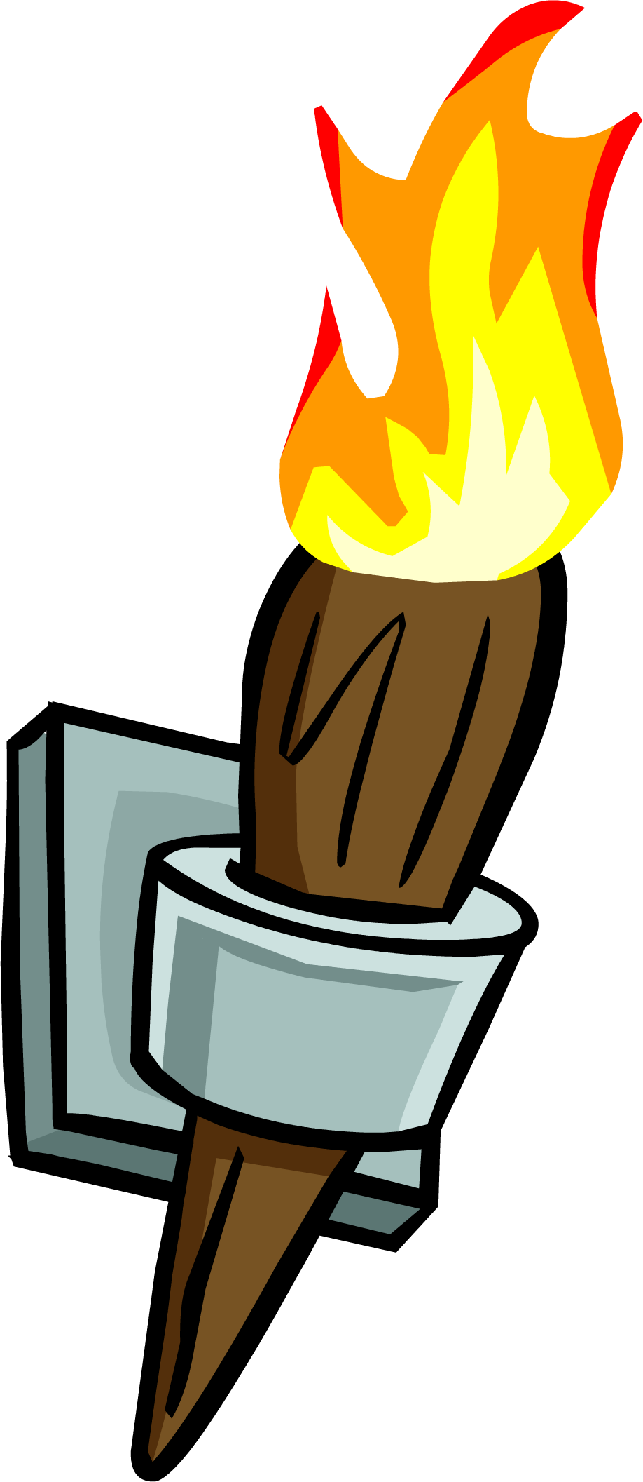 Wall torch png. Image club penguin wiki
