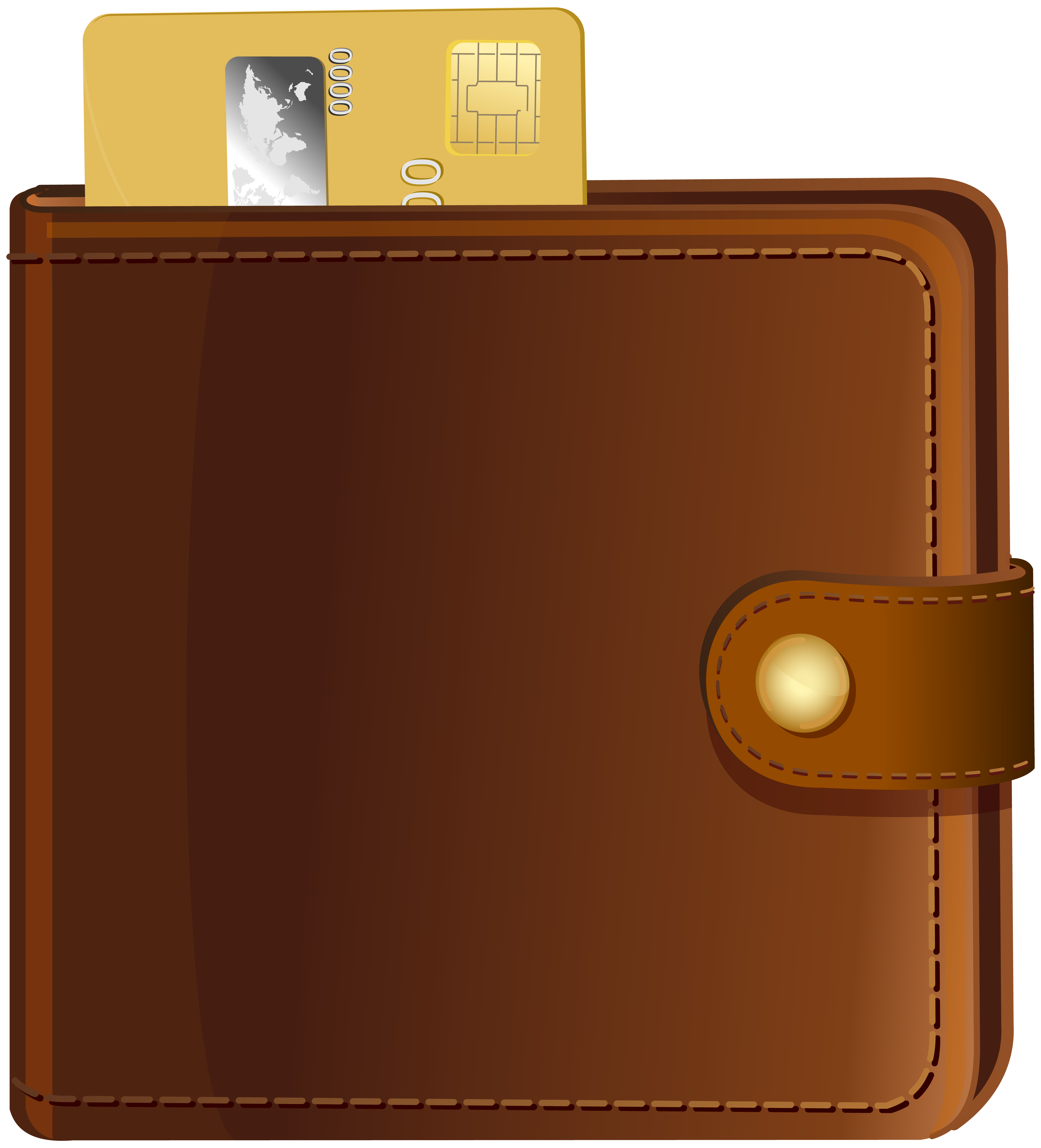 With credit card transparent. Wallet clipart clip royalty free