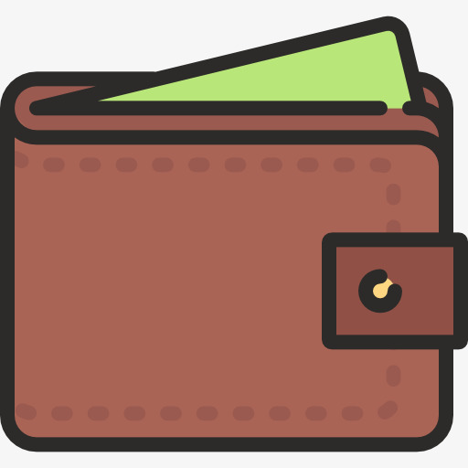 Wallet clipart. Cartoon bags png image