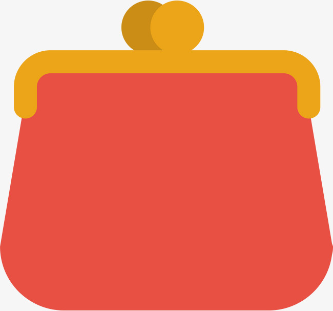 Wallet clipart coin pouch. Vector red purse png