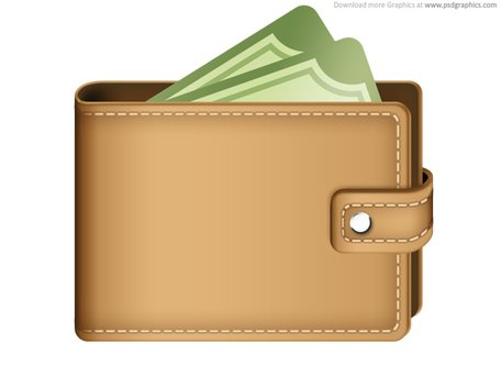 wallet clipart full wallet