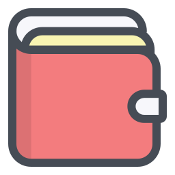 Wallet vector infographic. Google image icon