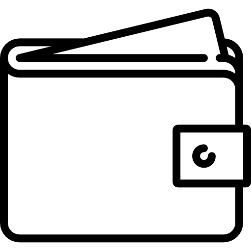 Wallet vector infographic. With card sticking out