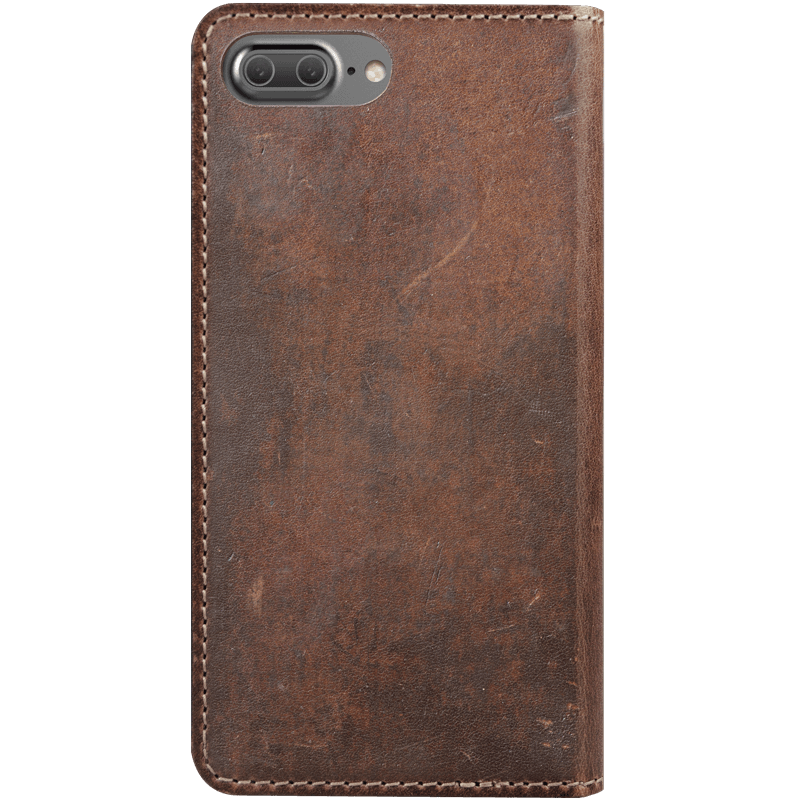 Wallet vector leather. Folio for iphone clove