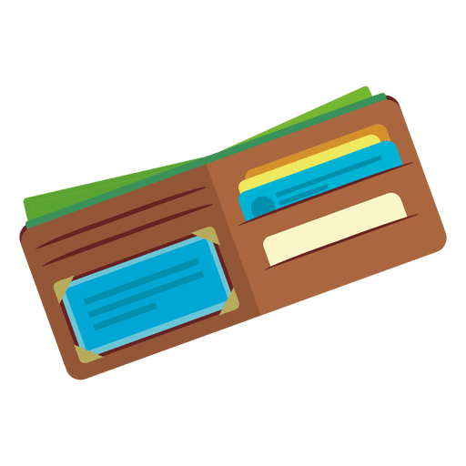 wallet vector infographic
