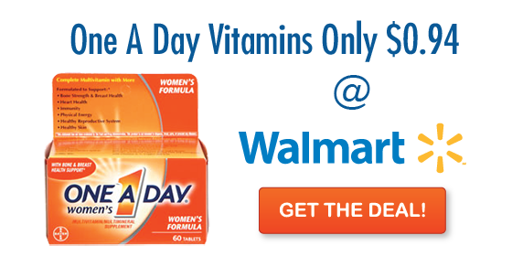 Walmart one png. A day multivitamin just