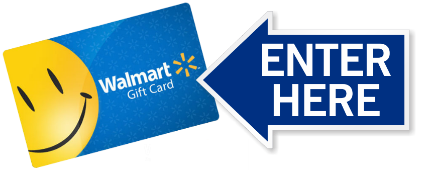 Walmart one png. Enter to win gift