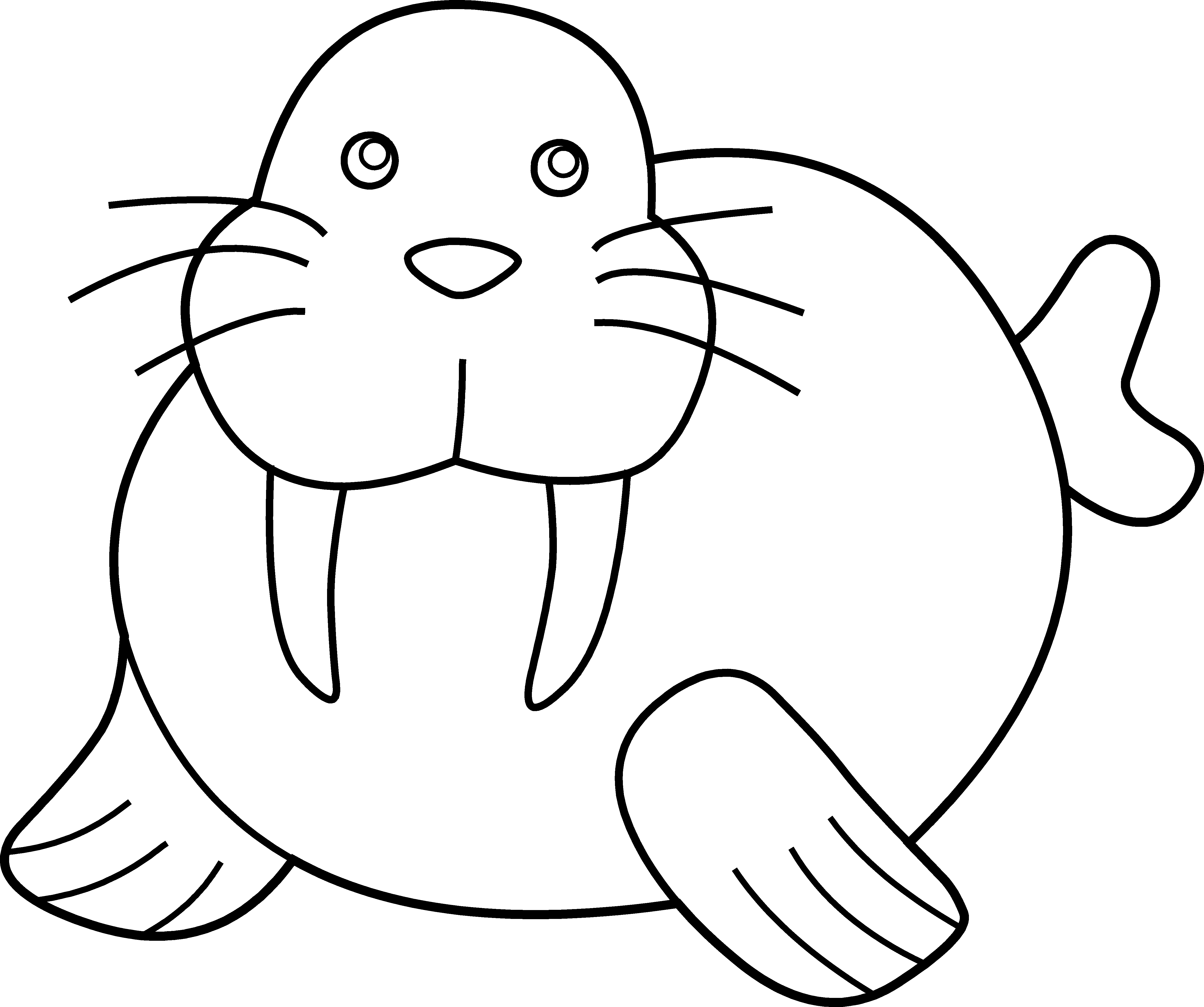 Wave clip black and white. Best walrus clipart art