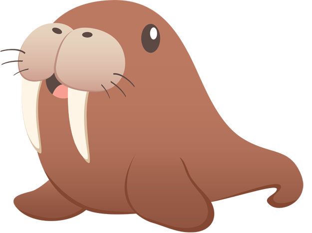 Walrus transparent. Brown is