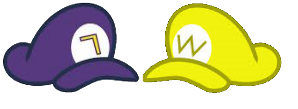 Waluigi hat png. Request wario and assets