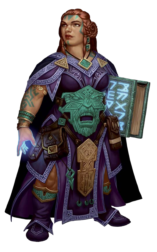 Wand transparent dwarven. Mage fantasy characters
