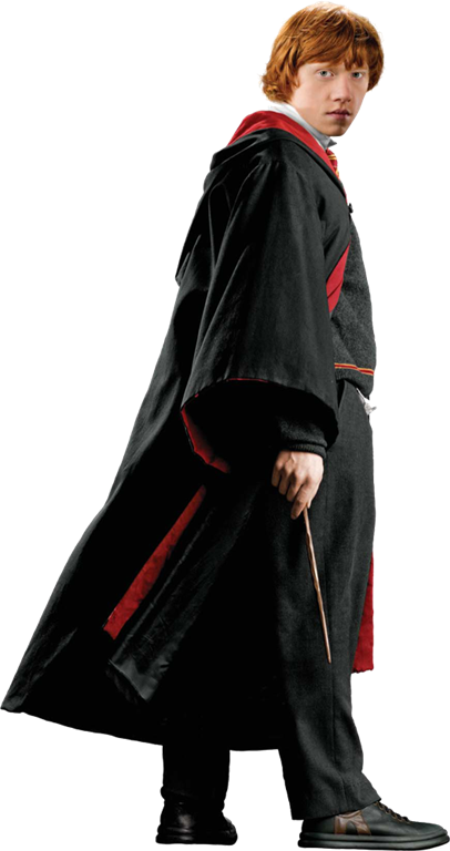 Wand transparent ron weasley. In robe with harry