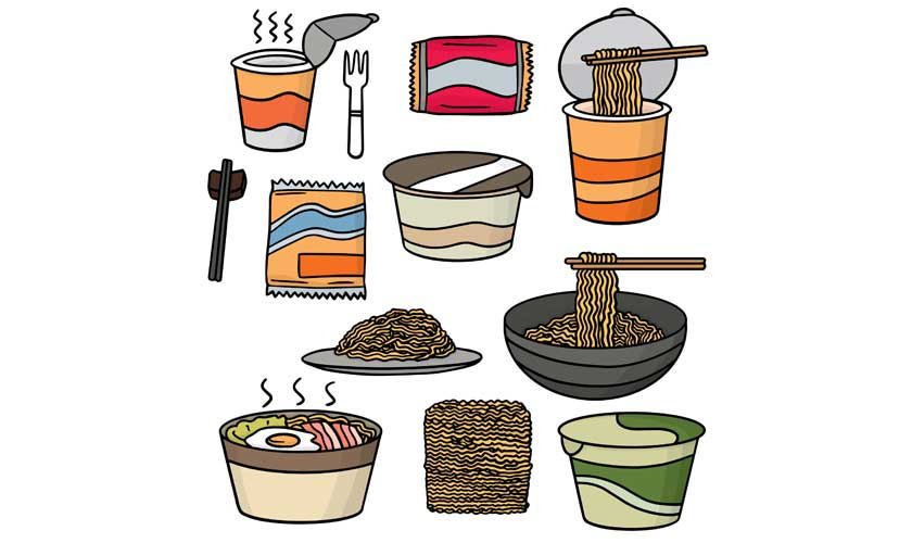 Want clipart basic food. Convenience instant foods a