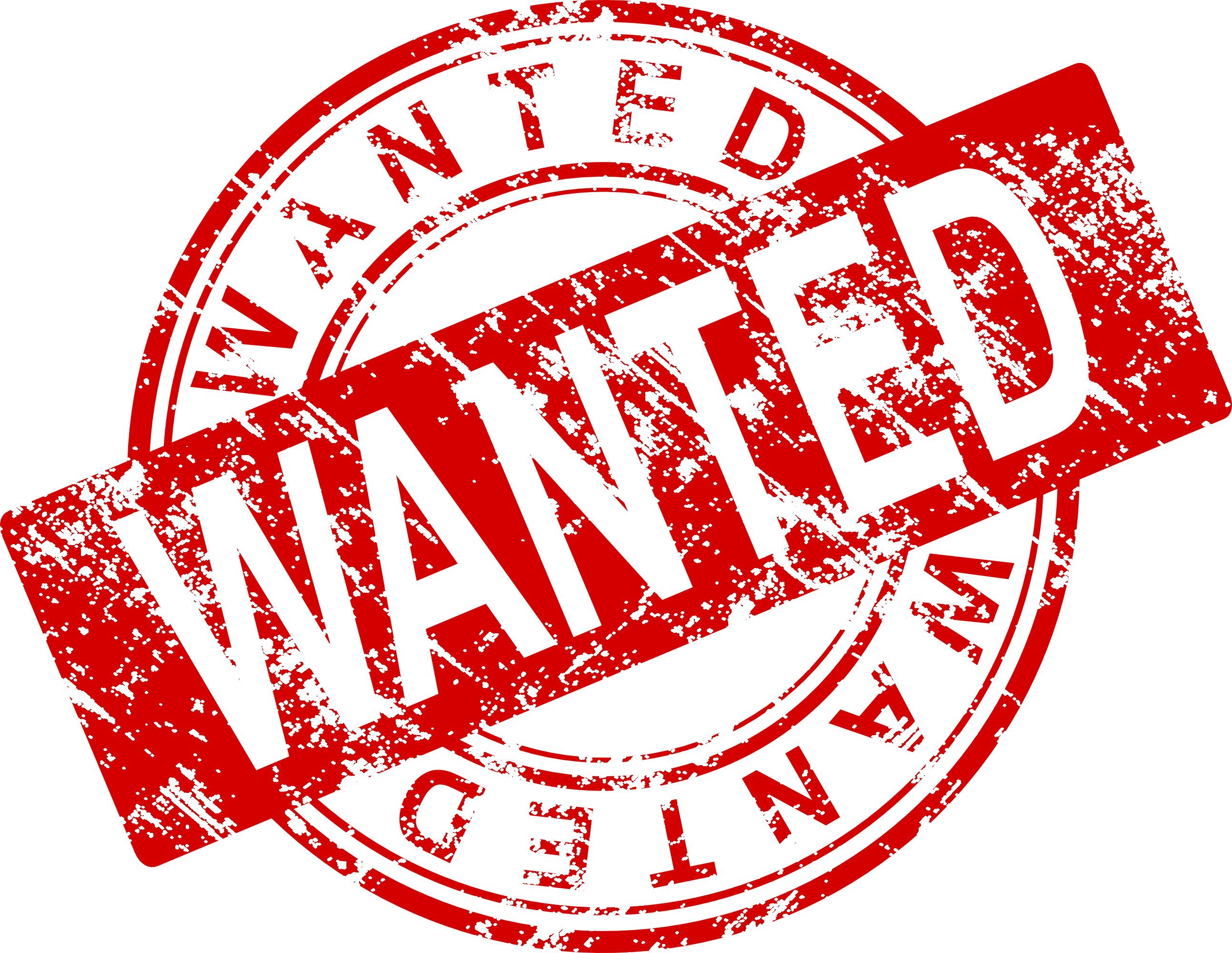 Wanted transparent. Stamp vector png