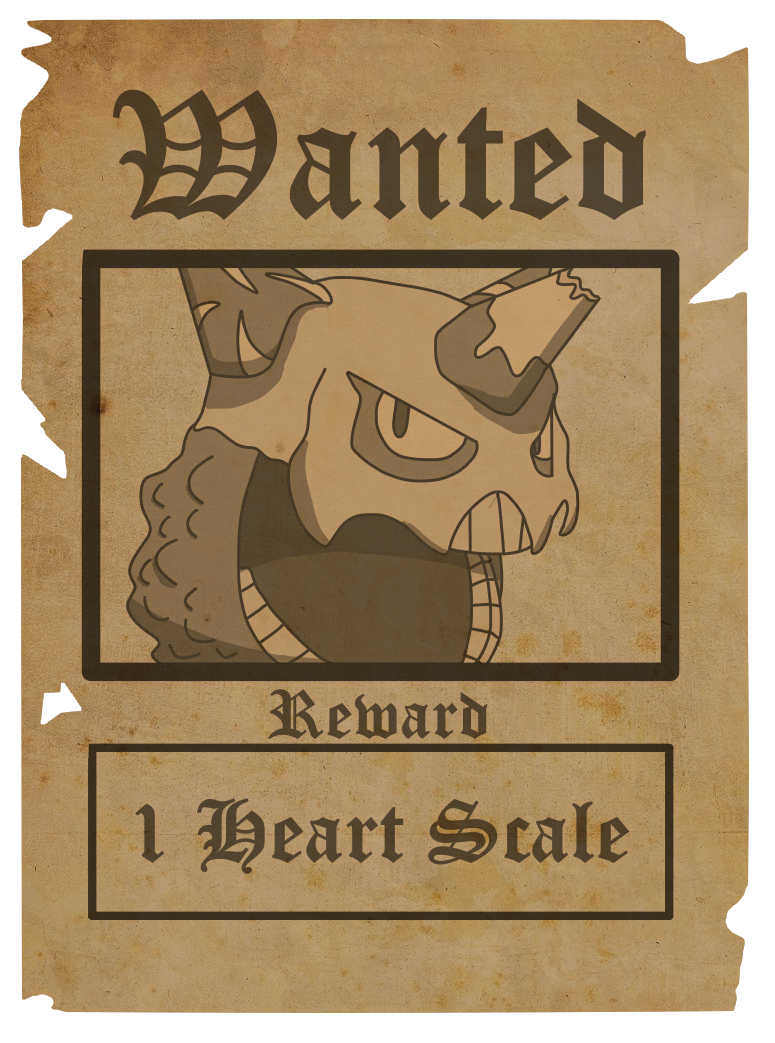 Wanted transparent dead or alive. Poster pokemon of avalon