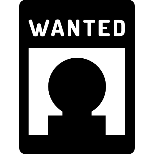 Wanted transparent icon.