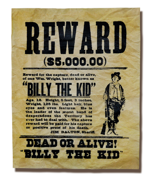 Wanted transparent kid. Billy the poster x
