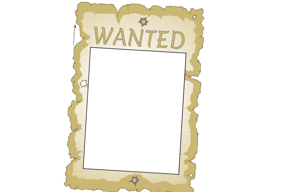Wanted transparent printable. Free poster early years