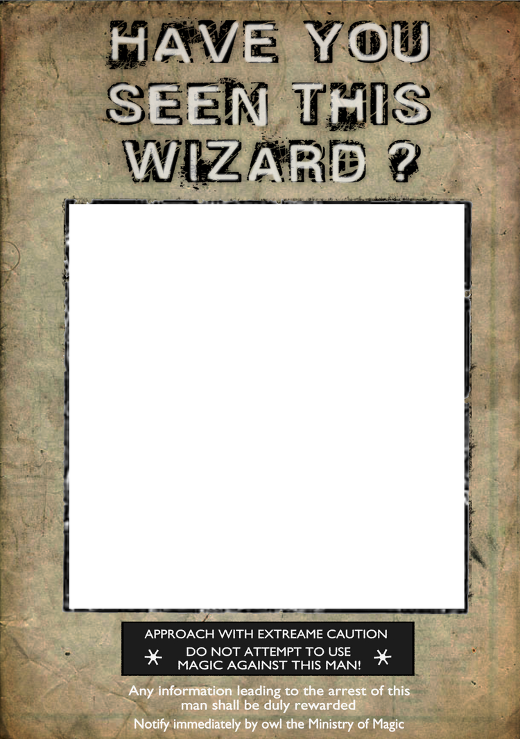 Harry potter style poster. Wanted transparent template graphic transparent stock