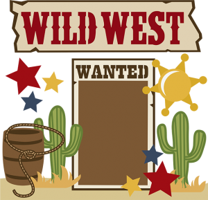 Wanted transparent wild west. Svg collection files for