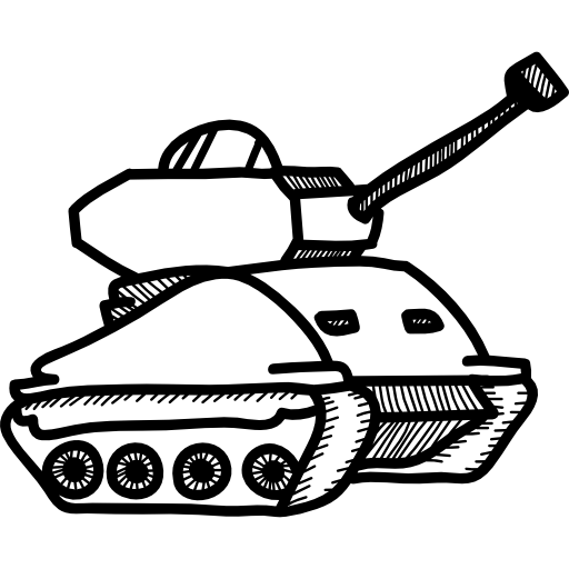 Vector tanks military icon. War tank icons free