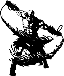Blade vector god war. Of silhouettes kratos shape