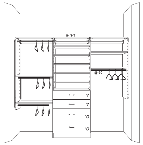 wardrobe drawing closet