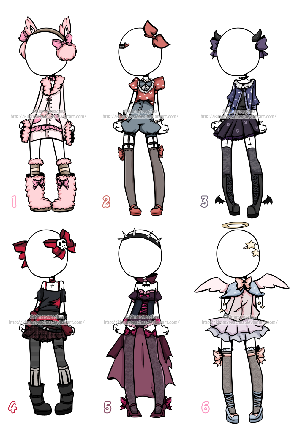 Wardrobe drawing style. Outfit adoptables closed by