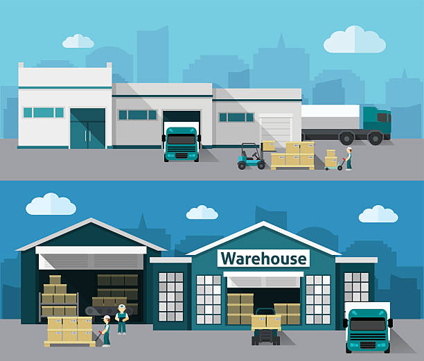 Warehouse clipart 2 storey building. Exterior pencil and in