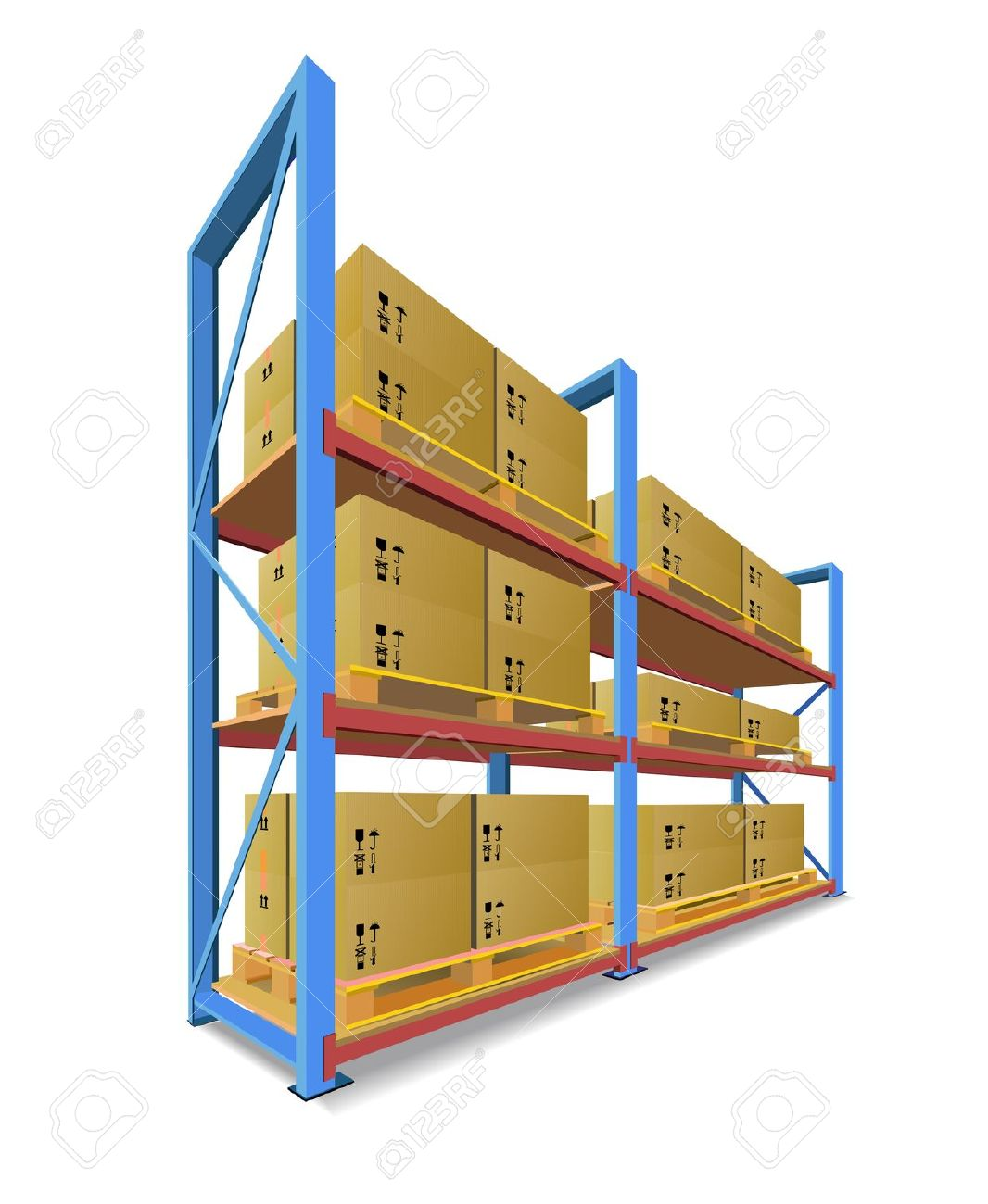 Warehouse clipart logo. Shelf