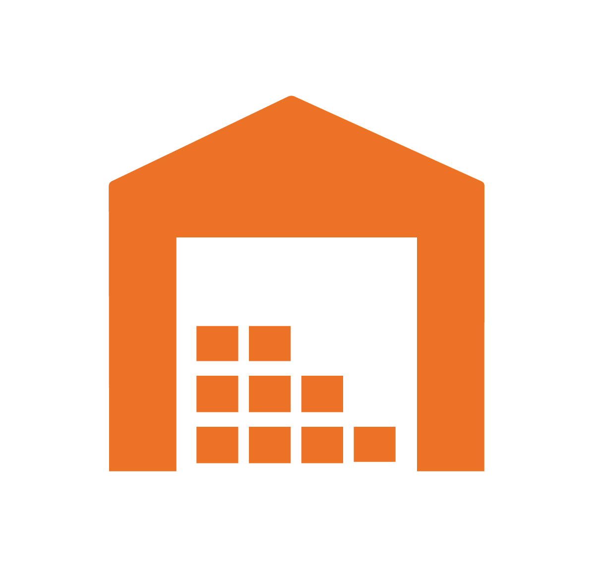 warehouse vector icon