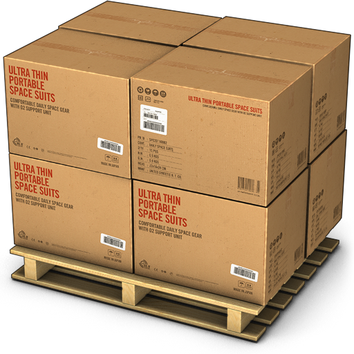 Package vector stack box. Shipping of srk zmp
