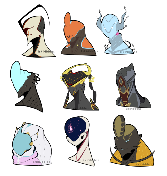 Warframe drawing mag. Transparent busts for shipping